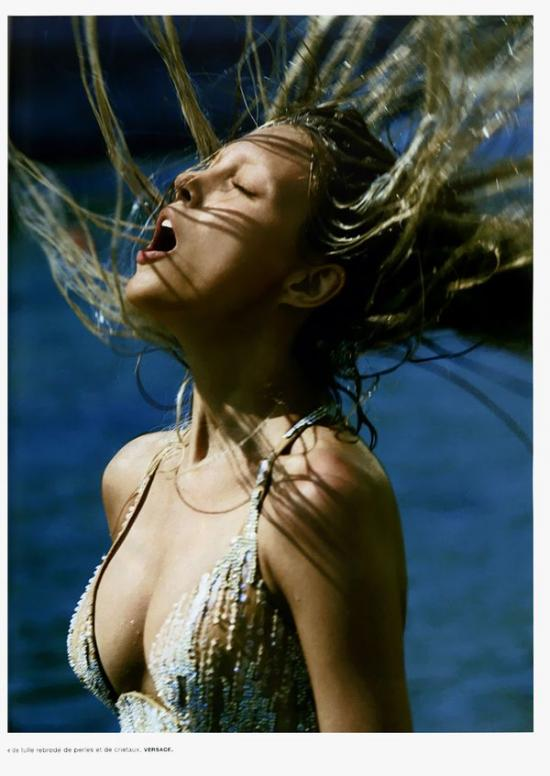 Anja Rubik - Wet photo | girl.of.the.day